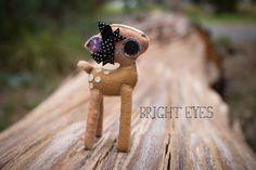 Adorable Handmade Plush Deer by Brighteyesshop on Etsy Bright Eyes, Deer, Plush, Unique Jewelry, Handmade Gifts, Cute, Etsy, Vintage, Sparkling Eyes