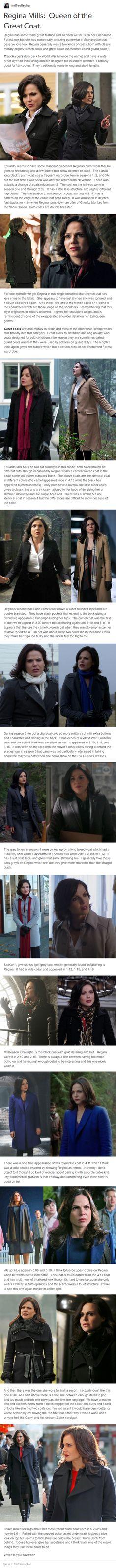 Regina Mills: Queen of the Great Coat