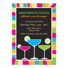 Cinco de Mayo Margarita Fiesta Invitations
