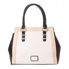 Paneled Nadine Structured Tote