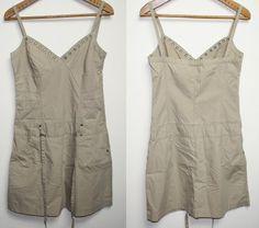 Summer Womans Beige Short Dress Skirt SCD Jeans Size M Girl Fashion Designer