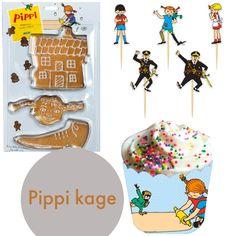 Find inspiration til en nem pippi kage og links til hvor du køber dekoration og pynt til både Pippi fødselsdag og Pippi kage.