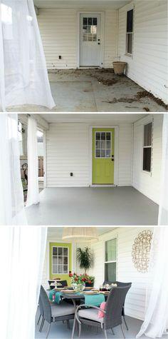 ChippaSunshine: How To: Repaint a Concrete Porch