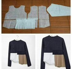 Sewing Blouse Pattern Design Ideas For 2019 Sewing Patterns Free, Clothing Patterns, Dress Patterns, Top Pattern, Pattern Design, Kleidung Design, Sewing Blouses, Modelista, Techniques Couture