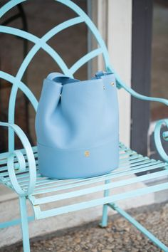 Powder Blue Bucket Bag | Louella Reese Life & Style Blog