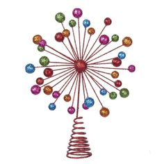Kurt Adler Ball Glitter Wire Treetop, Multi-Colored => Remarkable discounts available : Christmas Tree Toppers Christmas Tree Toppers, Christmas Decorations, Seasonal Decor, Decorating Your Home, Wire, Glitter, Packing, Invitations, Gifts