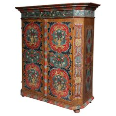 Austrian Painted Cabinet