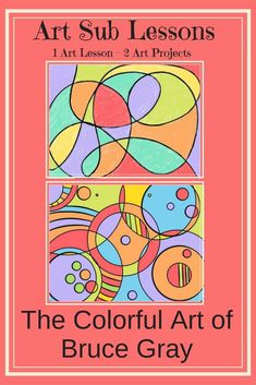 This elementary art sub lesson includes slides about the art of Bruce Gray and two drawing projects. Students learn about abstract art and create two abstract drawings of their own. Kindergarten Art Lessons, Art Lessons Elementary, Art Education Lessons, Art Sub Plans, Art Lesson Plans, Easy Art Projects, Drawing Projects, Clay Projects, Project Ideas