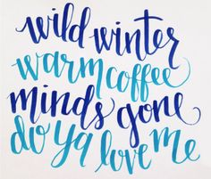 Lyric inspired hand lettering - Coffee by Sylvan Esso #brushpen #calligraphy