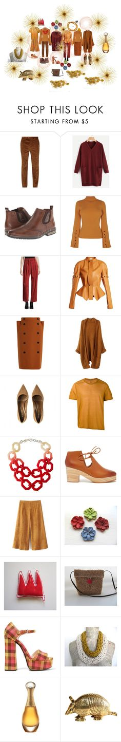 """Autumn"" by talma-vardi ❤ liked on Polyvore featuring Brunello Cucinelli, Rieker, Temperley London, Loewe, Bottega Veneta, Rick Owens, Alisha.D, Kelsi Dagger Brooklyn, Prada and Christian Dior"