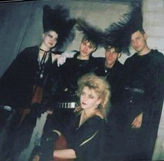no gravity can defeat the hair spray glue of 80's goth hair