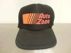 Vintage 1980's Autozone Trucker Snapback Hat by CoolVintageStudio