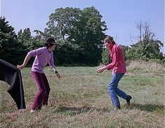 Nick Mason and Roger Waters of Pink Floyd - Scarecrow Promo Film, UK, July 1967