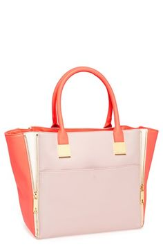 $255, Leather Shopper Bright Pink by Ted Baker London. Sold by Nordstrom. Click for more info: http://lookastic.com/women/shop_items/90339/redirect