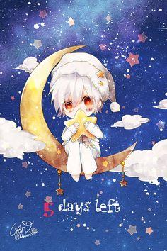 "Mafumafu-kun""s Album countdown! Chibi Boy, Cute Anime Chibi, Kawaii Chibi, Cute Anime Pics, Anime Neko, Kawaii Art, Manga Anime, Anime Art, Fanart"