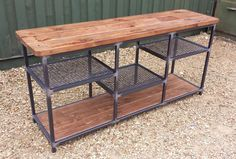 £725 - Introducing a new range of Industrial Chic bespoke furniture made by myself in the RoadHouse workshop. This is a mild Steel and reclaimed timber
