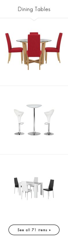 """""""Dining Tables"""" by valsal ❤ liked on Polyvore featuring home, furniture, tables, dining tables, dining, dining table, mesas, round dining tables, round furniture and red round dining table"""