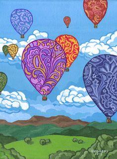 Hot Air Balloon Paintings | Hot Air Balloons (Painting)