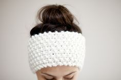 Chunky Knit Headband - Ear warmers in Vanilla Cream - Other Colour Options  £21.00