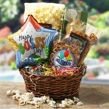 Boss Birthday Gift Diy Baskets Basket Crafts National Bosses Day Happy Bosss Gifts For Office