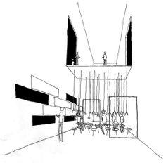 [A3N] : Pabellón Mexicano, Shangai 2010 Dibujo espacio interior