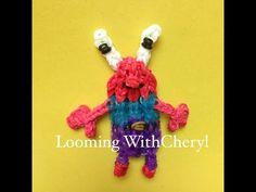 Mr. Krabs From Spongebob SquarePants Rainbow Loom tutorial by Looming with Cheryl.