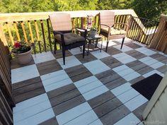 Checker board deck tutorial