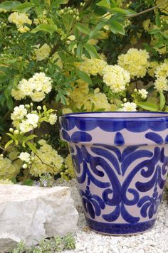 Alhambra design - about as \u0027Andaluz\u0027 as you can get for the garden! Spanish GardenGarden PotsTerracottaPlanter ... & 34 Best Wall pots from Spain images   Hand painted ceramics Hand ...