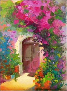 Doorway in Provence, painting by artist Maryanne Jacobsen