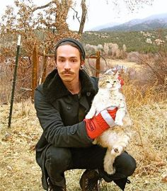Brandon Boyd.. love every single detail of this photo lol (stache & a cat.. dhfjdfd!)