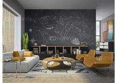 Mapa světa - tabule  #homedesign #tapety #travel
