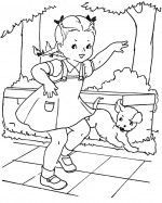 Vintage Girls & Boys (20 each) coloring pages - adorable