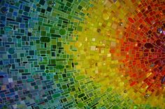 Nebula Chroma mosaic wall by Sonia King, main lobby Children's Medical center of Dallas