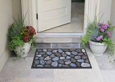Like inspirational mats? Front Door Decor, Chrysanthemum, Are You The One, Sustainability, Bath Mat, Eco Friendly, Entryway, Doormats, Stone