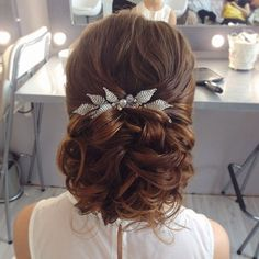 51 Beautiful Bridal Updos Wedding Hairstyles For A Romantic Bride - updo hairstyles, messy updo wedding hairstyle #hairstyles #wedddinghair #updo #weddinghairstyles
