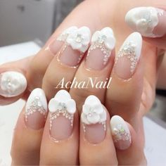 Exquisite nail design: modeling on nails with acrylic and gel polish Ladies Day, Fashion Hub, Nail Manicure, Wedding Nails, Face Shapes, Design Model, Gel Polish, Makeup Yourself, Pearl Earrings