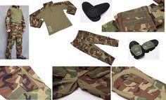 Allwin MARSOC US M81 Woodland Camo Combat Shirt Pants Elbow Knee Pad AOR1 GEN3 | eBay