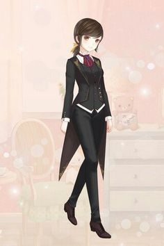 A girl version of black buttler