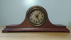 Antique Humpback Tambour Mantle Clock - Made in Winsted Conn - Working Repair