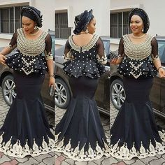 These superb and cute aso ebi styles you are about to see have been selected from last weekend. These beautiful ladies enjoyed their weekend parties with these wonderful designs, check them out and select the one you love so much. African Lace Styles, African Lace Dresses, Latest African Fashion Dresses, African Dresses For Women, African Attire, African Wear, African Women, Ankara Styles, Ankara Tops