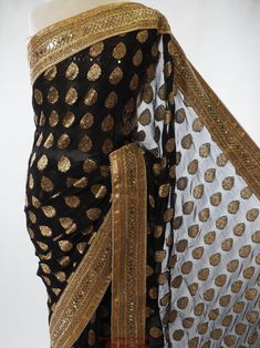 Benarasi Handloom Black or Red saree with Gold border - PTC 1107 - pv 0516 #bollywood #greatvalue #south #latest #creations #prachy #london