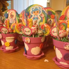 Lalaloopsy party center pieces!