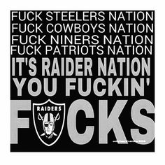 It's Raider Nation Oakland Raiders Images, Oakland Raiders Football, Raiders Baby, Nfl Oakland Raiders, Giants Baseball, Pittsburgh Steelers, Dallas Cowboys, Raider Nation, Raiders Stuff