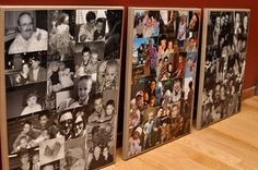 DIY Photo collage on canvas