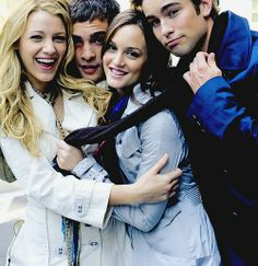 blake lively, ed westwick, leighton meester and chace crawford
