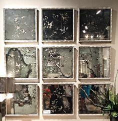 Botanicals on Antiqued Mirrors - Grid - JOHN-RICHARD SHOWROOM #HPMKT