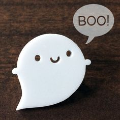 Little Ghost Kawaii Acrylic Brooch by askingfortrouble on Etsy Halloween Uk, Halloween Contacts, Kawaii Halloween, Halloween Items, Kawaii Shop, Cute Friends, Diy Clay, Decoration, Cute Art