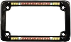 Street FX Integrated LED License Plate Frame - Black 1045788
