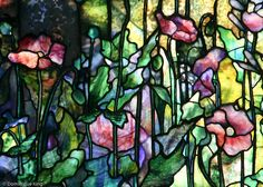 pastel stained glass window