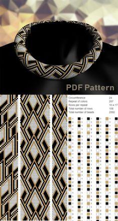 Bead crochet rope pattern beading pattern for necklace bead Crochet Necklace Pattern, Crochet Beaded Bracelets, Bead Crochet Patterns, Bead Crochet Rope, Beaded Bracelet Patterns, Loom Patterns, Beading Patterns, Seed Bead Bracelets Tutorials, Diy Bracelet